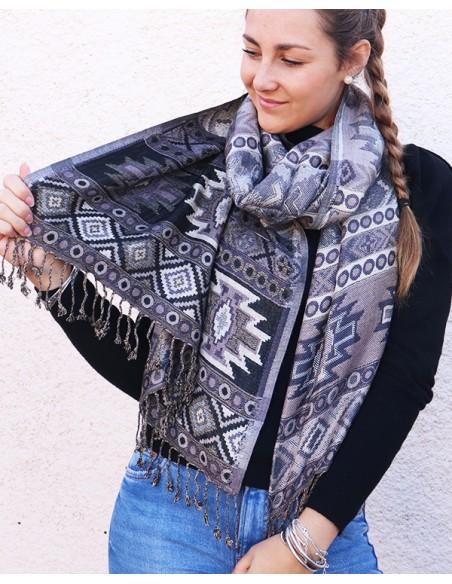 Etole noire et blanche - Mosaik bijoux indiens