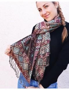 Etole verte et marron - Mosaik bijoux indiens 2
