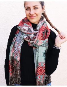 Echarpe colorée à motifs - Mosaik bijoux indiens