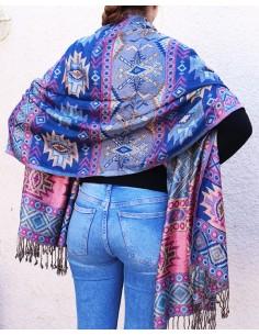 Etole bleue et rose - Mosaik bijoux indiens 2