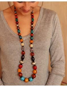 Collier à perles colorées - Mosaik bijoux indiens 2