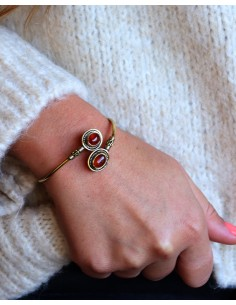 Bracelet jonc doré et 2... 2
