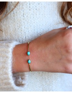 Bracelet jonc fin argenté... 2