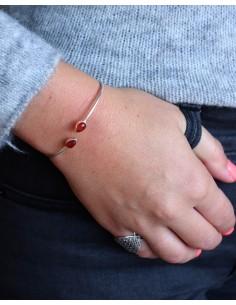 Bracelet jonc fin argenté 2... 2