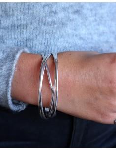 Bracelet 5 joncs argentés 2