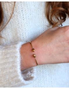 Bracelet jonc fin doré et 2... 2