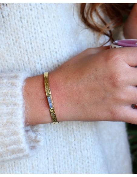 Bracelet doré et turquoise - Mosaik bijoux indiens