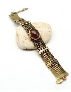 Bracelet souple doré et...