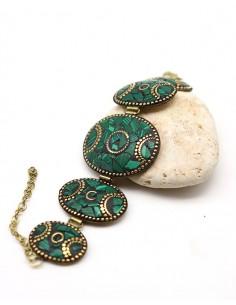 Bracelet tibétain et malachite