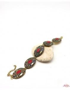 Bracelet tibétain doré et...