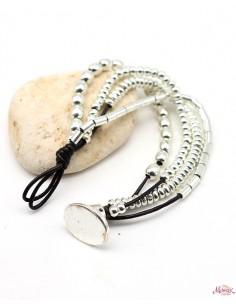 Bracelet 4 rangs perles... 2