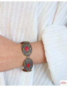 Bracelet tibétain doré et... 2