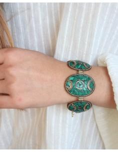 Bracelet tibétain et malachite 2