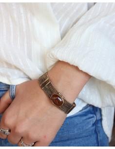 Bracelet souple doré et... 2