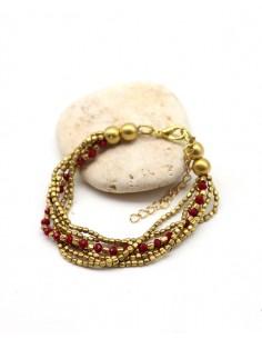 Bracelet 6 rangs perles...