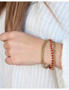 Bracelet 6 rangs perles... 2