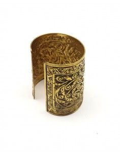 Grosse manchette dorée ethniques - Mosaik bijoux indiens 2