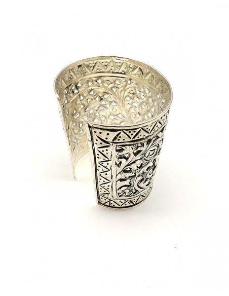 Manchette ethnique travaillée - Mosaik bijoux indiens