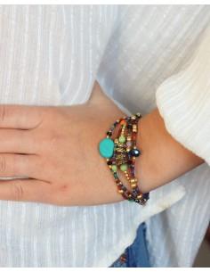 Bracelet 5 rangs perles... 2
