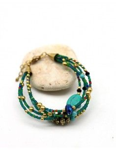 Bracelet 5 rangs perles...