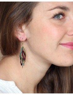Boucles d'oreilles pendantes grappe - Mosaik bijoux indiens 2