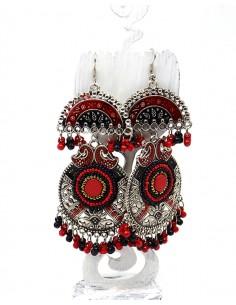 Boucles d'oreilles indiennes ethniques - Mosaik bijoux indiens