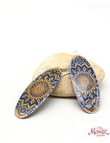 Boucles d'oreilles artisanales - Mosaik bijoux indiens