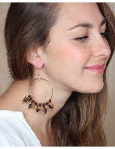 Boucles d'oreilles macramé... 2