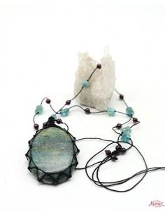 Collier en Rubis fushite monté sur fil de coton - Mosaik bijoux indiens