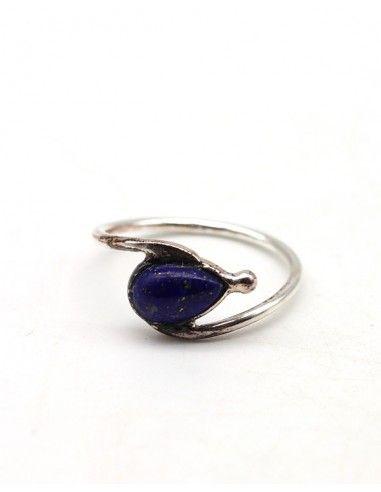 Bague argent fine et lapis lazuli