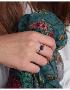 Bague argent fine et lapis lazuli 2