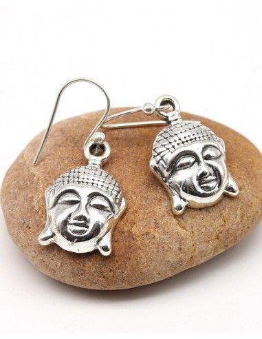 Boucles d'oreilles Bouddha en argent