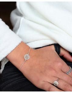 Bracelet en argent fin et... 2