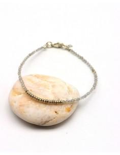 Bracelet fin perles argent...
