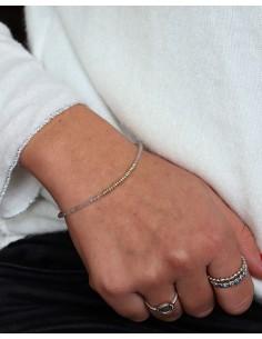 Bracelet fin perles argent... 2