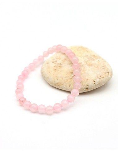 Bracelet élastique pierre rose - Mosaik bijoux indiens