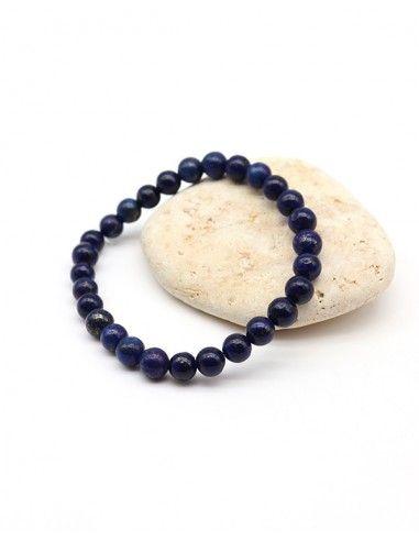 Bracelet bleu en lapis lazuli naturel - Mosaik bijoux indiens