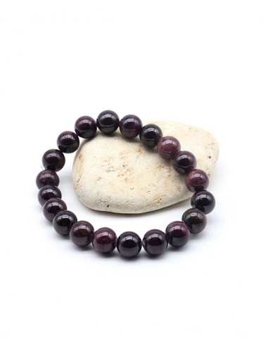Bracelet grenat perle 10mm - Mosaik bijoux indiens