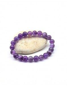 Bracelet améthyste perles...