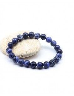 Bracelet sodalite naturelle élastique - Mosaik bijoux indiens