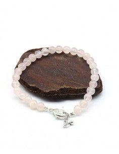 Bracelet quartz rose perles...