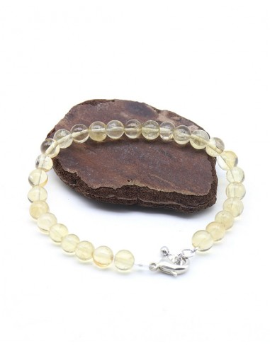 Bracelet citrine perles rondes - Mosaik bijoux indiens