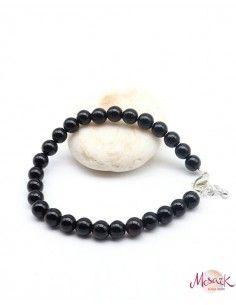 Bracelet onyx naturel - Mosaik bijoux indiens