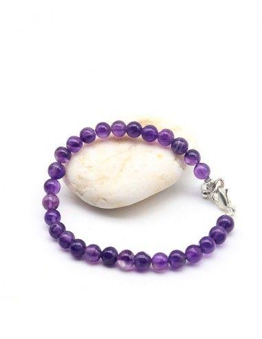 Bracelet améthyste violette - Mosaik bijoux indiens