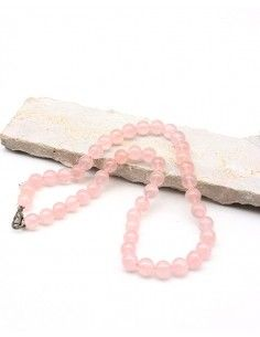 Collier quartz rose naturel - Mosaik bijoux indiens