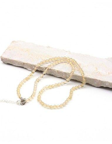 Collier citrine naturelle perles rondes - Mosaik bijoux indiens