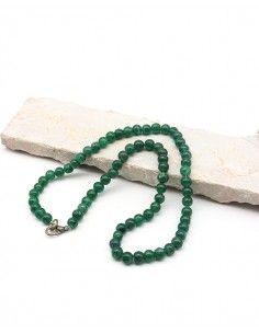 Collier aventurine naturelle perles rondes - Mosaik bijoux indiens