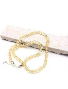Collier citrine perles rondes - Mosaik bijoux indiens