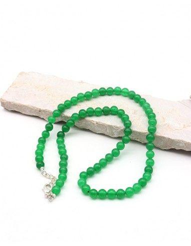 Collier agate verte naturelle - Mosaik bijoux indiens