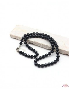 collier onyx perles rondes...